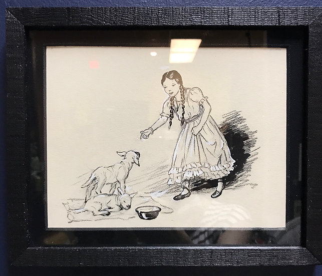 Original Children's Book Illustrations, Framed Trio