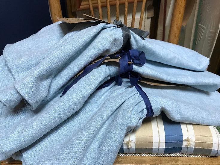 """Giselle"" standard shams, pale blue (1 pair)"