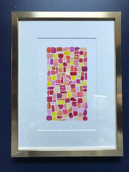 """Sangria Seaglass"" Original Watercolor by Robin Powers"