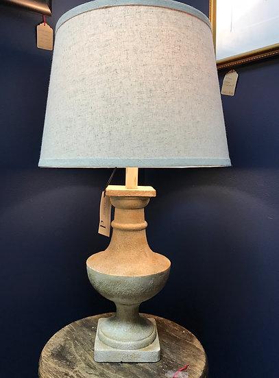 """Faux Cement Pedestal Lamp, 27"""""""