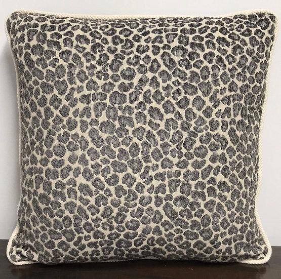 """Small Gray Spot Pillow (14"""")"""
