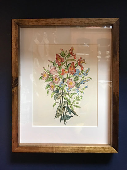 Bright Bunch of Flowers, Framed Lithograph