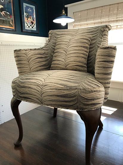 Animal stripe Queen Anne style chair