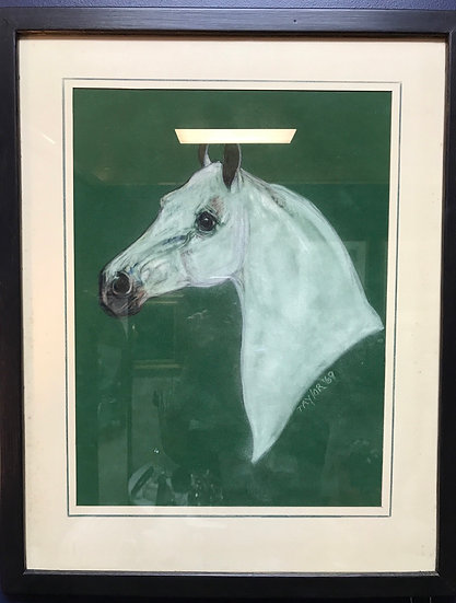 White horse art by Taylor