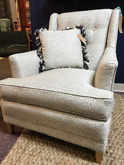 Leopard spot armchair, down seat
