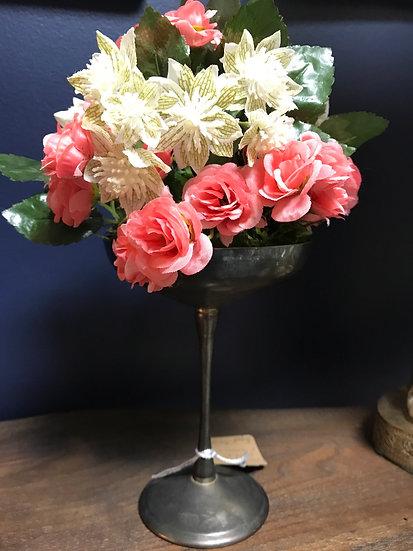 Silver champagne floral arrangement