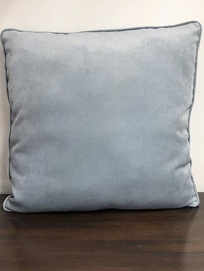"Large Blue Velvet Pillow (24"")"