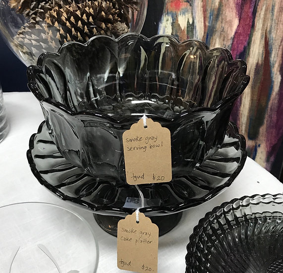 Smoke Grey Serving Bowl