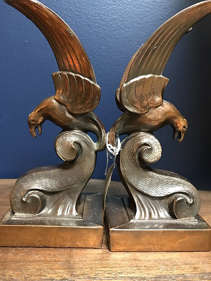 """Eagle bookends, 7 1/2"""" tall"""