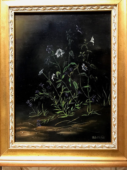 Robert White floral oil painting