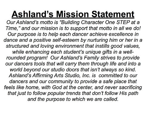 Ashland's Mission Statement for Waiting