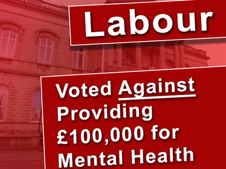 Labour Refuse to spend £100,000 on Mental health services