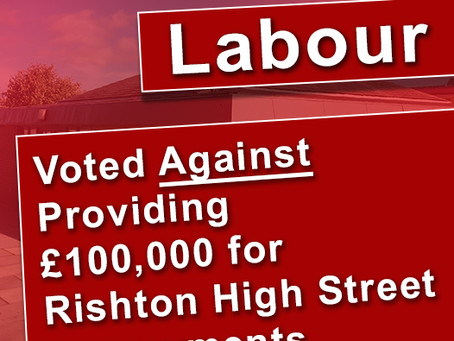 Labour refuse to invest £100,000 on Rishton High Street