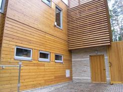 Фасад строения с Имитацией бруса