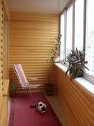 Отделка балкона и лоджии деревяным  Блок хаусом