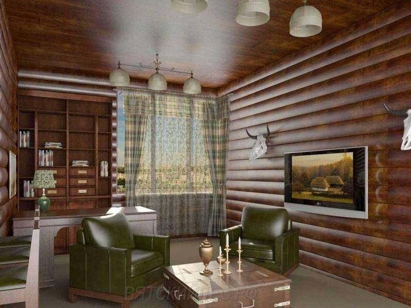 Внутренняя отделка стен Блок хаусом