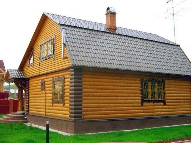Фасад дома из Блок-хауса