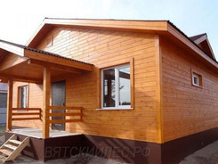 Фасад дома с Имитацией бруса