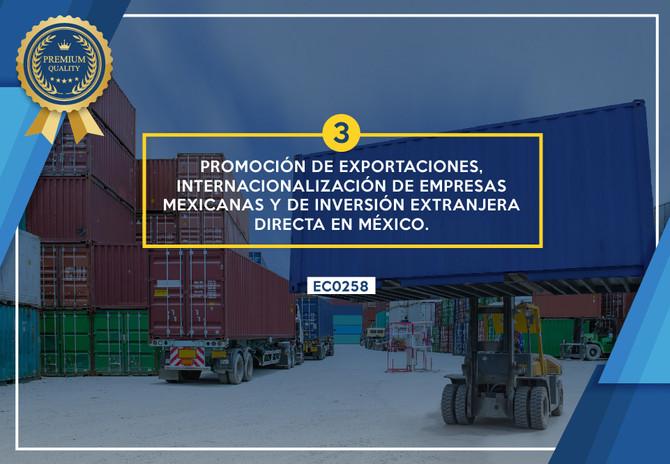 Promoción de exportaciones, internacionalización de empresas mexicanas y de la inversión extranjera