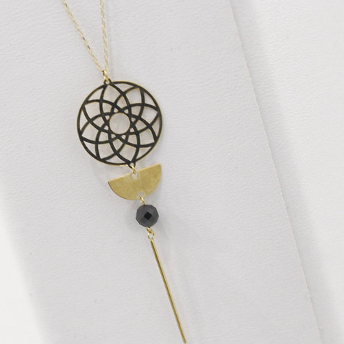 10k yellow gold pendent necklace