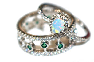 Sterling silver opal and peridot gemston