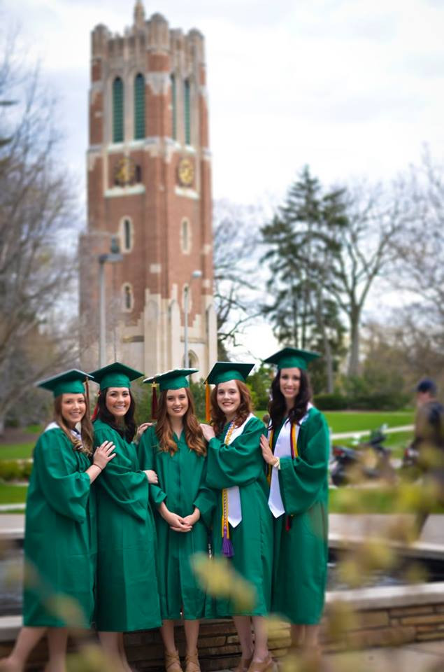 Graduation picture from Michigan State University