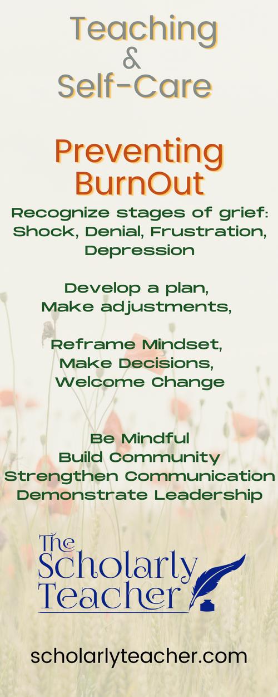 Teaching & Self Care: Preventing Burnout