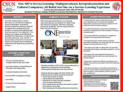 How HIP is Service Learning Poster Final