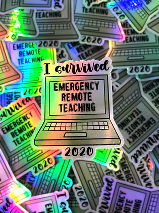 Holographic Sticker Remote Teaching 2020