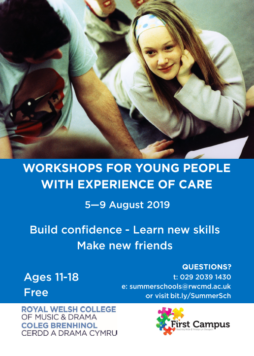 FREE workshops for young people with experience of care, 5-9