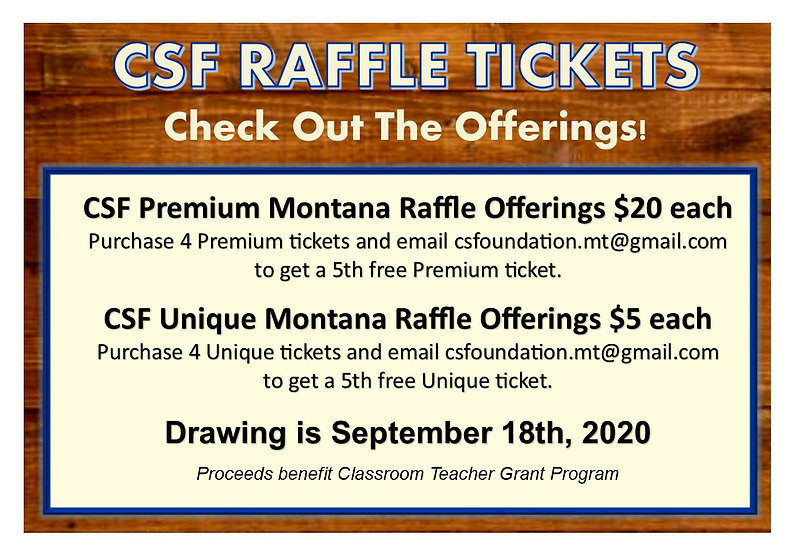 Sept 2020 Raffle - Our Events - More Inf