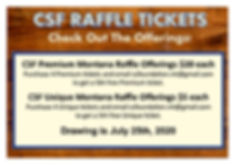 Raffle Tickets - Our Events - More Info