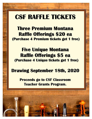 Sept 2020 Raffle - Our Events main page.
