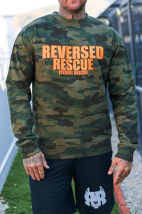 Unisex Camouflage Crew Sweater