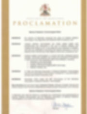 Proclamation MRT Week 2019_Minister of H