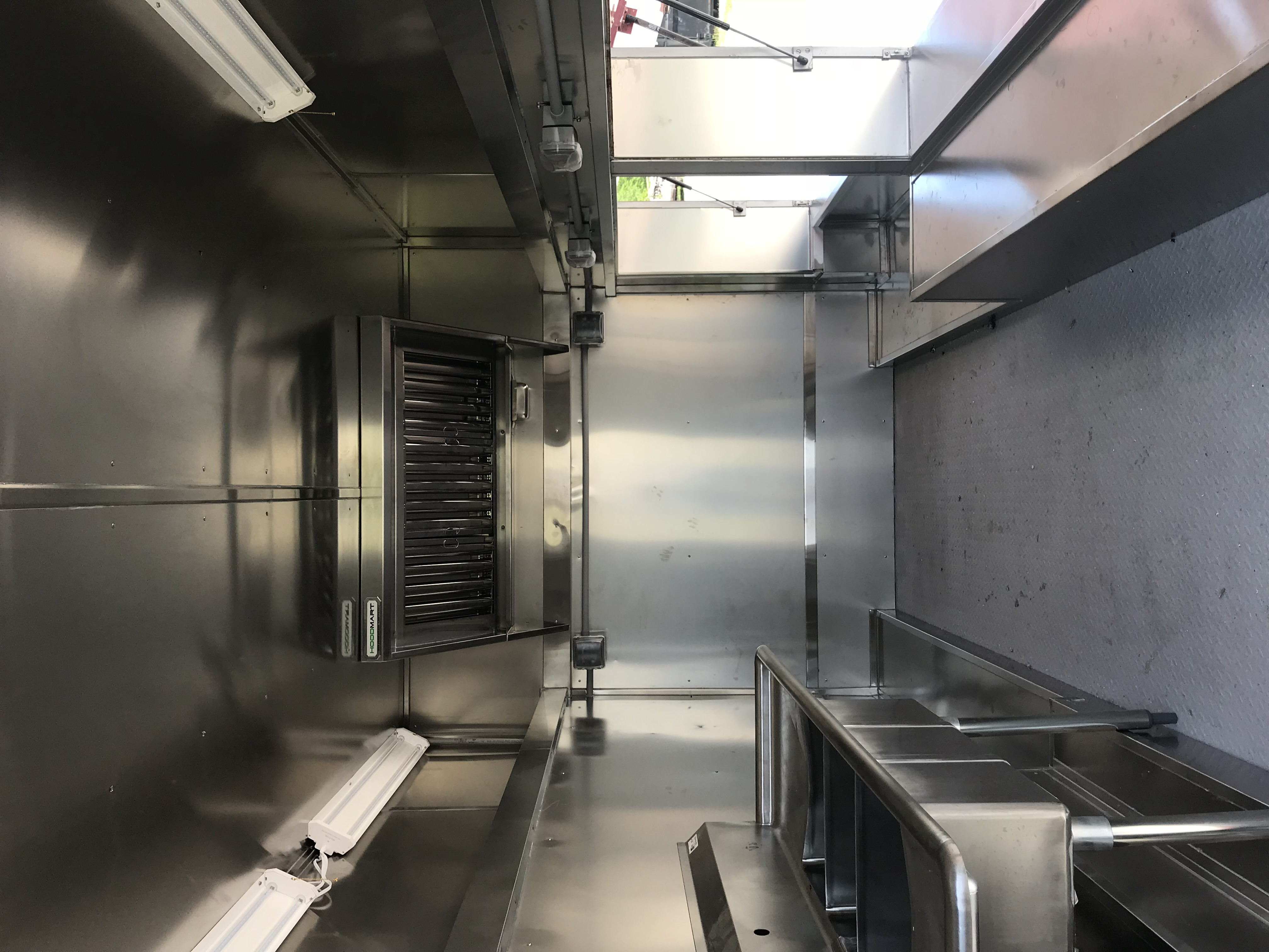 Inside of the Food Truck - Firetruck