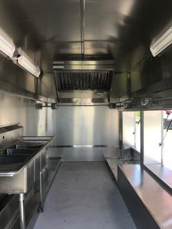 Inside of the Food Truck - Firetruck