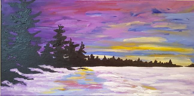 Winter Sunset over Georgian Bay