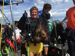 Capt Sandy Lobster hunt