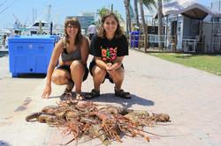 Kid Scuba Hunters Lobster