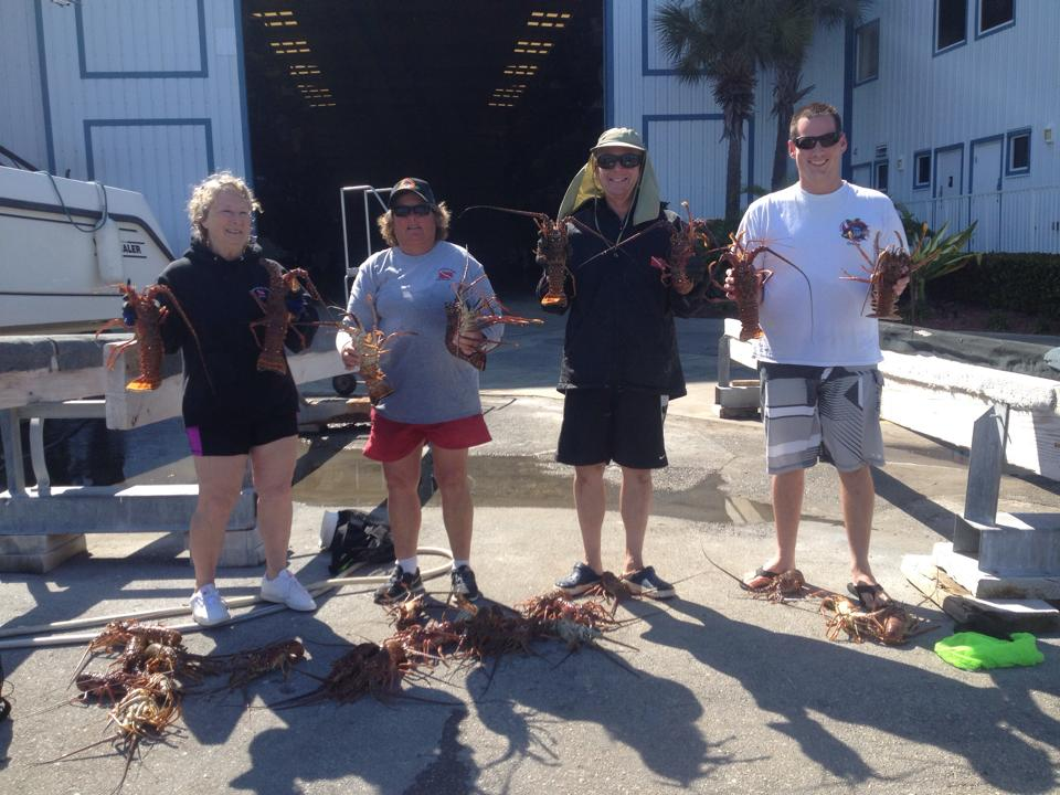 lobster hunting scuba