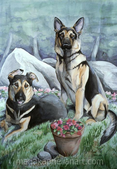 """Shepherds"" Watercolor 20x14"""