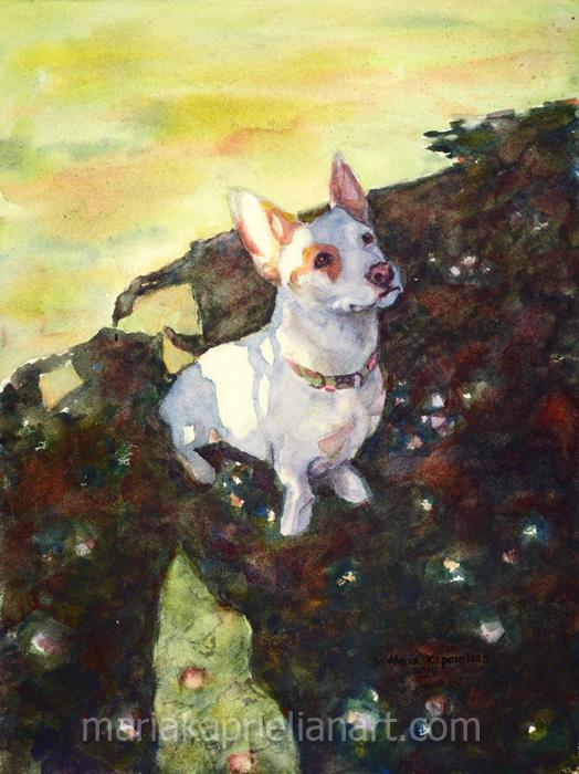 """Trixie"" Watercolor 16x12"""