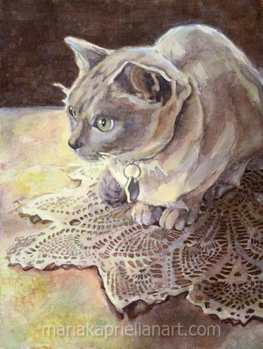 """""""Skinner"""" Watercolor 16x12"""""""