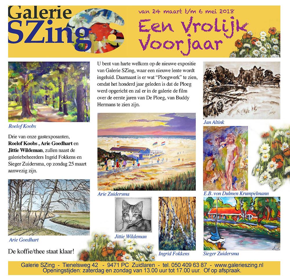 Expositie Galerie SZing 24 maart t/m 6 mei http://galerieszing.nl