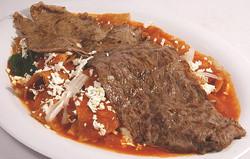 Chilaquiles bistec