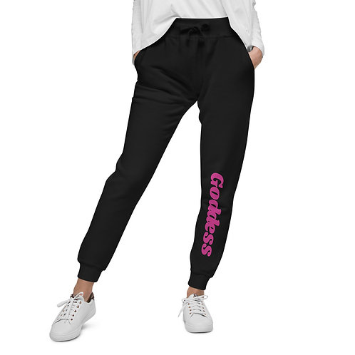 Unisex fleece sweatpants- Goddess