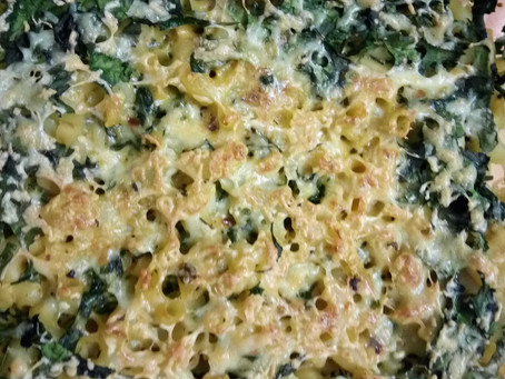 Spinach Macaroni with Cheese