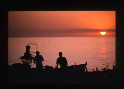 Sunset fishing Calabria - Italy