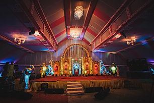 Indian wedding stage setup